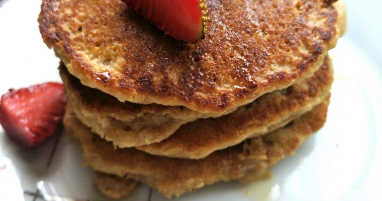 Coconut Oatmeal Pancakes- Gluten free and Dairy free!