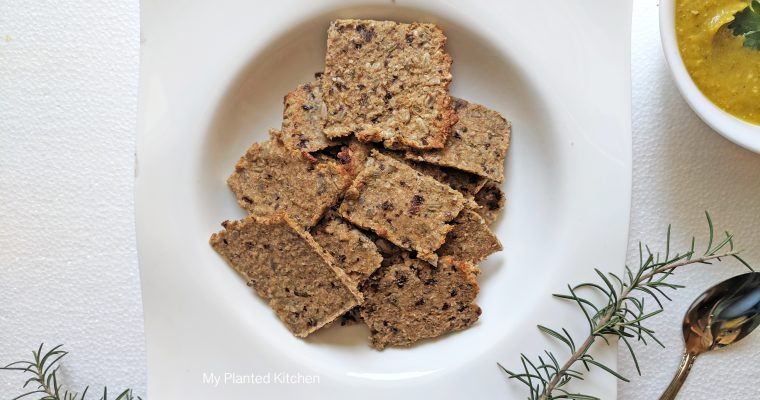 Sweet and Savory Sesame Crackers