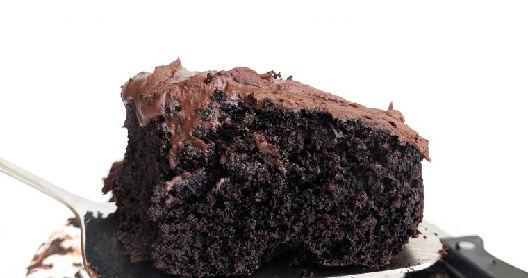 Gluten Free Moist Chocolate Cake with 2 Ingredient Chocolate Frosting