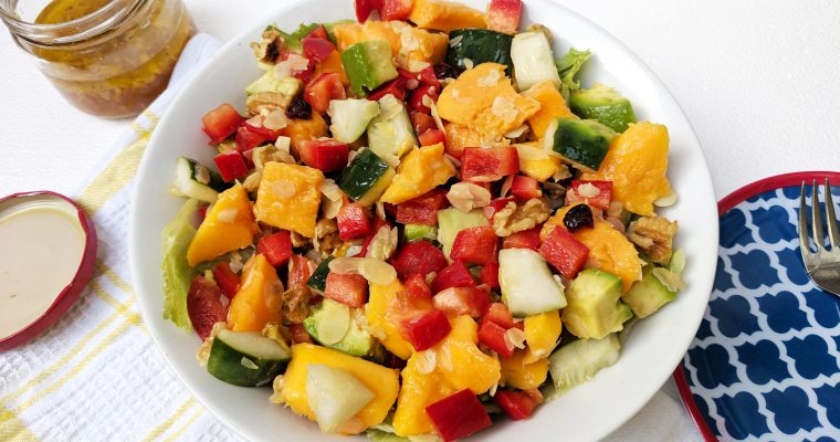 Mango Avocado Salad with Sweet Ginger Dressing